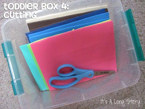 Toddler Box: Cutting