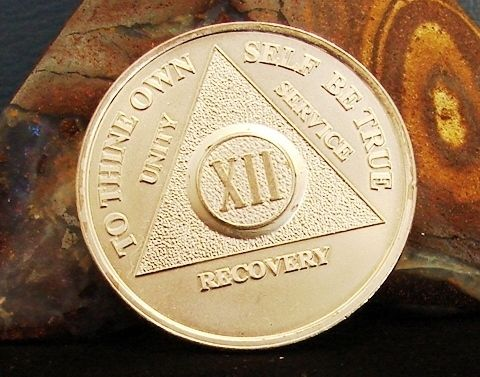 1 2 Oz 999 Silver Alcoholics Anonymous 13 Year Medallion