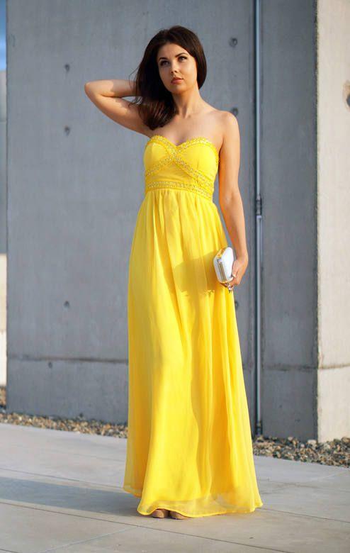 Yellow Maxi Chiffon Dress |special Evening Dress #lady_like #maxi #mini #fashion #women #jaglady #femininity #chic #elegant #vintage #lace #boho #business #homecoming #readytowear #catwalk #model #redcarpet #runway #vintage #boots #high_heels #nyfw