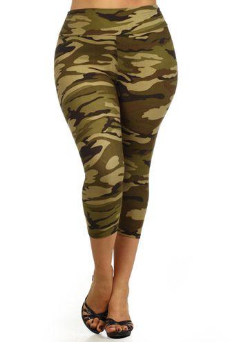 Camo Capri Leggings (Plus Size) | Plus Size | Pinterest | Capri ...