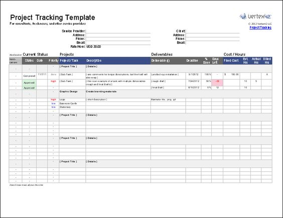 Download a free Project Tracking Template to use as a - project tracking template