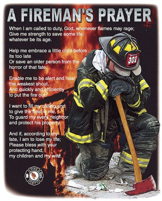 Firemans Prayer Firefighter Brotherhood Fire and Rescue American ...