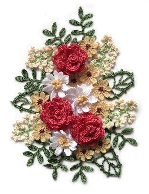 Crochet bouquet + diagrama