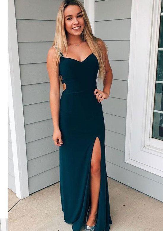 Hot Selling Criss Cross Split Side Prom Dresses Under 100 Prom Dresses Under 100 Tight Dresses Tight Prom Dresses