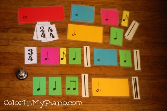 FREE printable Rhythm Value Cards.  Perfect for rhythm dictation and other games!: