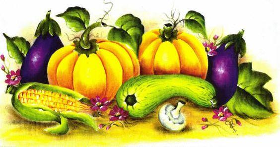 pintura em tecido legumes