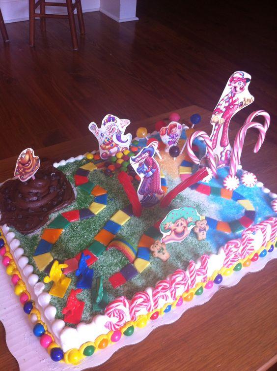 Candyland birthday cake for Sarah Beth