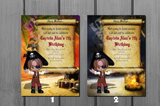 Pirate Birthday Invitation  Printable by NorthernDesigns on Etsy, $9.00