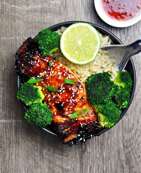5-Ingredient Grilled Lime and Sweet Chilli Salmon: