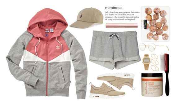 """""""something's got to change """" by love-rebelwolf ❤ liked on Polyvore featuring Oliver Peoples, adidas, NIKE, ASOS, Polo Ralph Lauren, American Apparel, Carol's Daughter and Denman"""