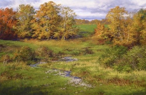 Peaceful Autumn by Andrew Orr Oil ~ 16 x 24