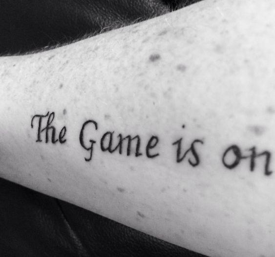 My very own Sherlock inspired tattoo 31.1.14