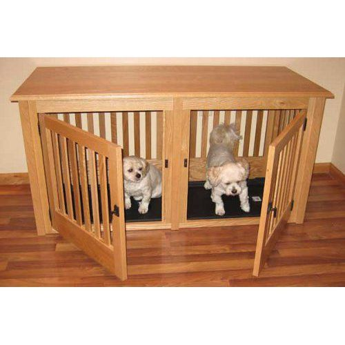 Double Wood Dog Crate Small DIY Pinterest
