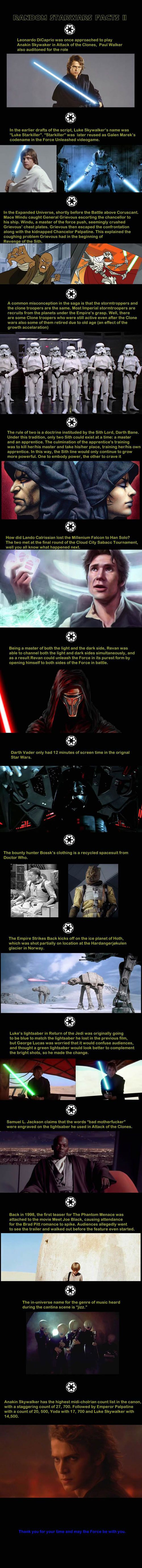 Some Star Wars facts to start your day off