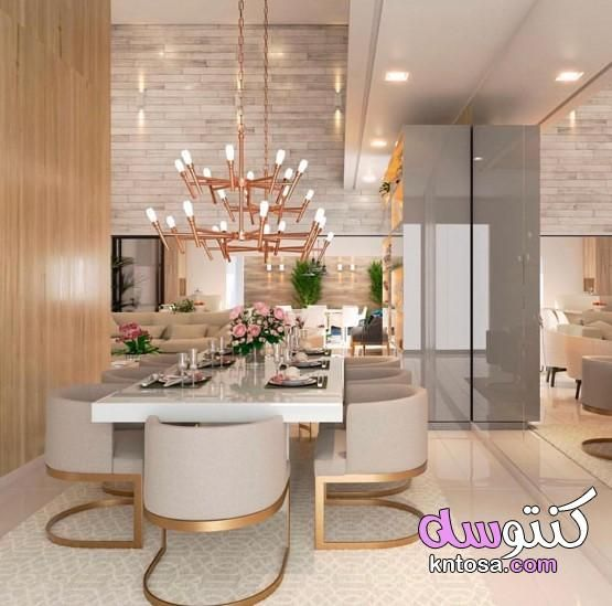 تصميم سفرة طعام احدث غرف سفرة 2021 غرف سفرة مودرن كاملة غرف سفرة ونيش Elegant Dining Room Dining Room Cozy Luxury Dining Room