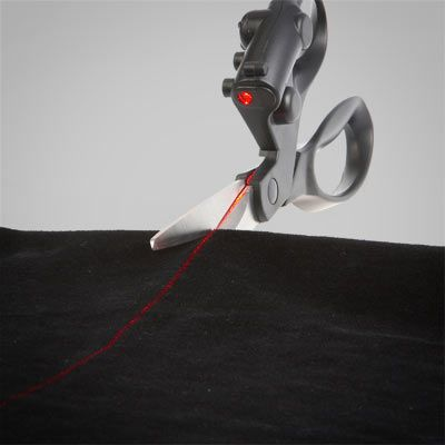 Laser Guided Scissors...I need these I couldn't cut a straight line if my life depended on it