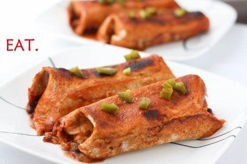 easy vegan freezer meal - black bean pineapple enchiladas.. ohhhhhh myyyyyyy......