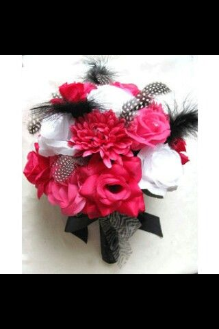 beautiful boquet change the zebra print ribbon to demask