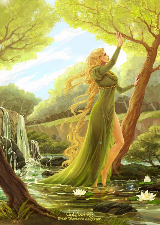 Goldberry by ~darth-coco on deviantART    O slender as a willow-wand! O clearer than clear water!  O reed by the living pool! Fair River-daughter!  O spring-time and summer-time, and spring again after!  O wind on the waterfall, and the leaves' laughter!: