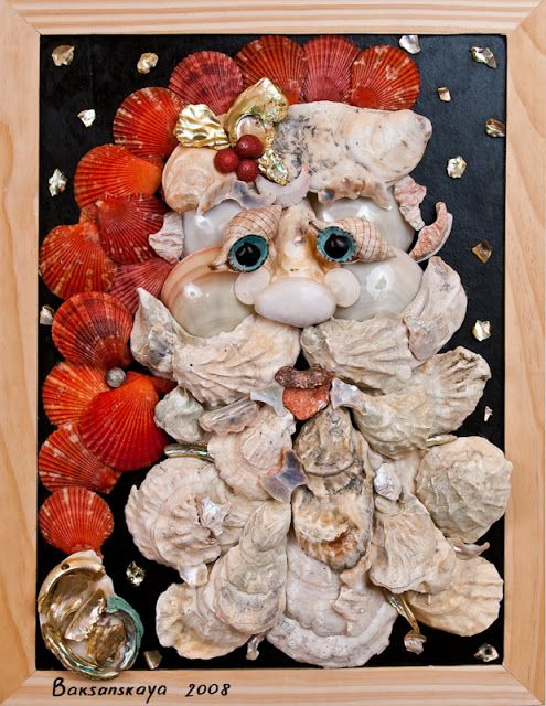 Sally Lee by the Sea Coastal Lifestyle Blog: Seashell Art Objects are Conversation Pieces