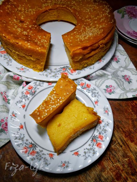 Bingka Labu Lemak Manis Fiza S Cooking Makanan Resep Resep Labu Kuning