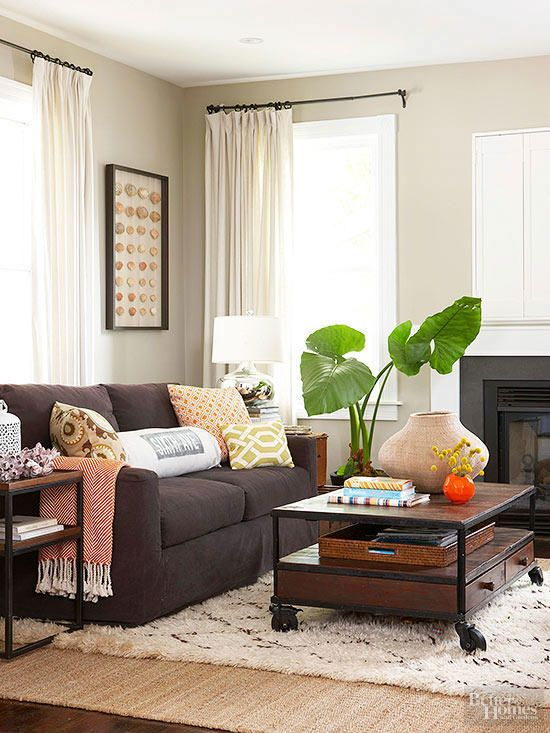 17 Stunning Ways To Decorate With A Brown Sofa Brown Sofa Living Room Brown Couch Living Room Brown Living Room Decor