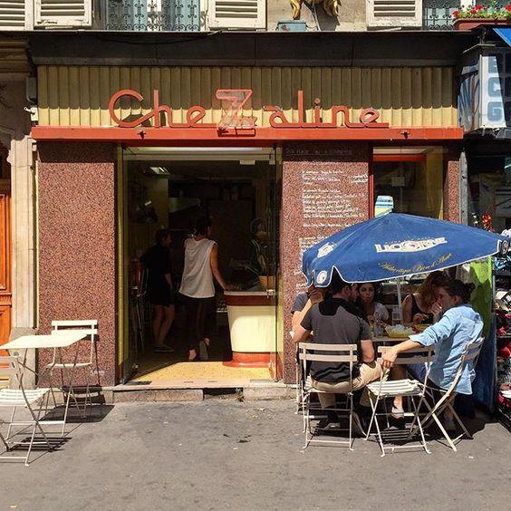 """Comida de rua"" parisiense muito boa.. #lategram #chezaline"