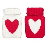 John Lewis Heart Knitted Hand Warmer, Red/White, Assorted from Experience Frenzy