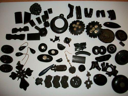 Lots of jet jewelry