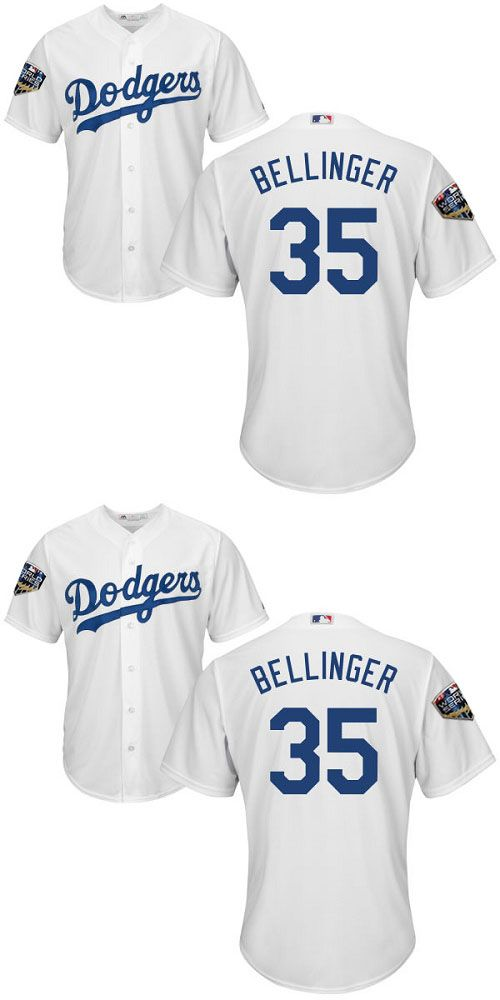 official photos 48407 ae194 Cheap Dodgers #35 Cody Bellinger White Cool Base 2019 World ...