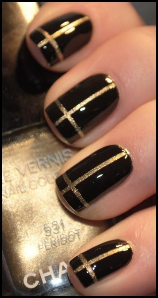 Simple Nail Art Designs For Beginners Nails Cross Nails Gold Nail