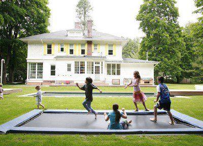 my children will have an underground trampoline: