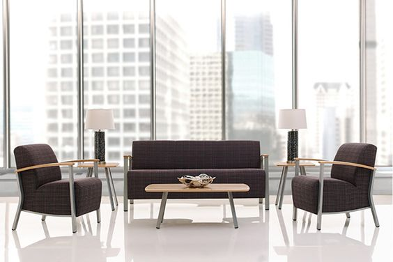 Our new Soltice metal line sofa, guest chairs, and table collections