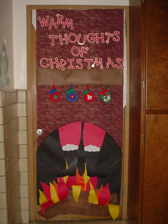 Christmas Door Decorating Contest Ideas For School : School christmas door contest winners image detail for