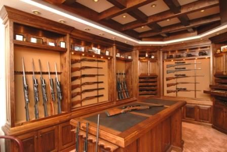 Beautiful caves and gun rooms on pinterest for Home gun room