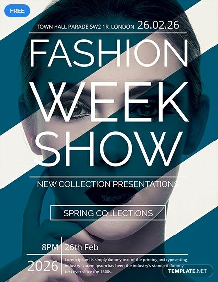 Free Fashion Week Show Flyer Template Word Doc Psd Apple Mac Pages Publisher Illustrator Fashion Show Poster Fashion Poster Design Fashion Show Invitation