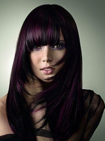 meches marron sur cheveux noir google search - Meche Sur Cheveux Noir Colore