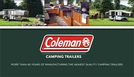As an owner of the tent trailer you may need a relevant brochure or manual, Coleman came along with an online library of everything you may need going back to 1967