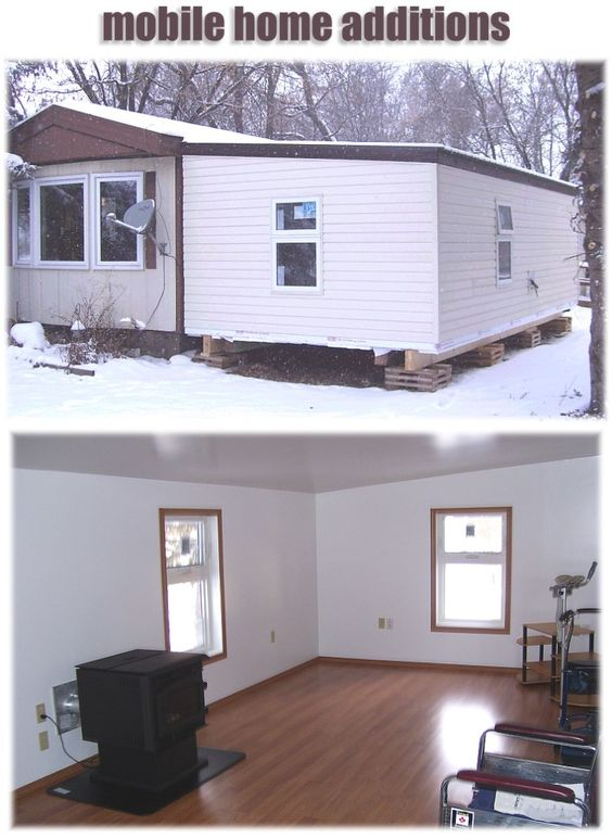 Mobile home addition home additions and mobile homes on for Mobile home room addition