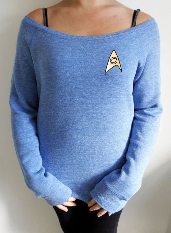 Hey, I found this really awesome Etsy listing at https://www.etsy.com/uk/listing/250899296/star-trek-blue-shirt-spock-slouch-jumper