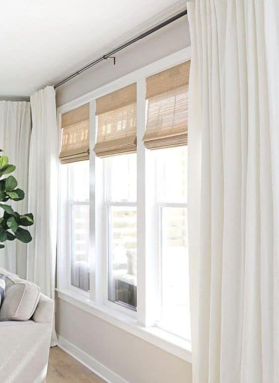 17 Amazing And Unique Curtain Ideas For Large Windows Window Treatments Living Room Big Windows Living Room Large Windows Living Room