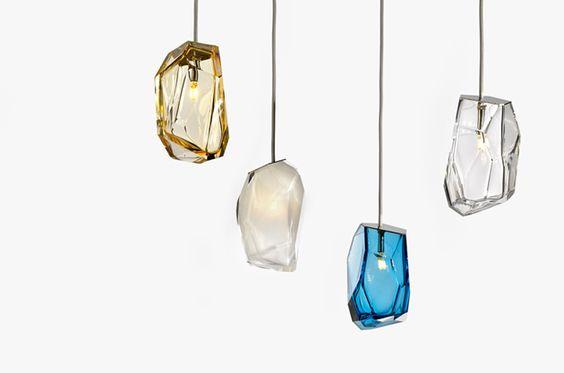 Arik Levy * Crystal Rock for Lasvit, contemporary design, latest trends, trendy light, best lighting,