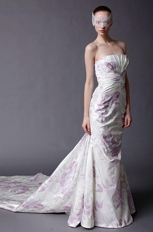 Douglas Hannant flower printed #wedding dress, Spring 2013.