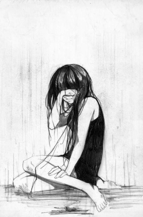 Gallery For gt Lonely Girl Crying Drawing