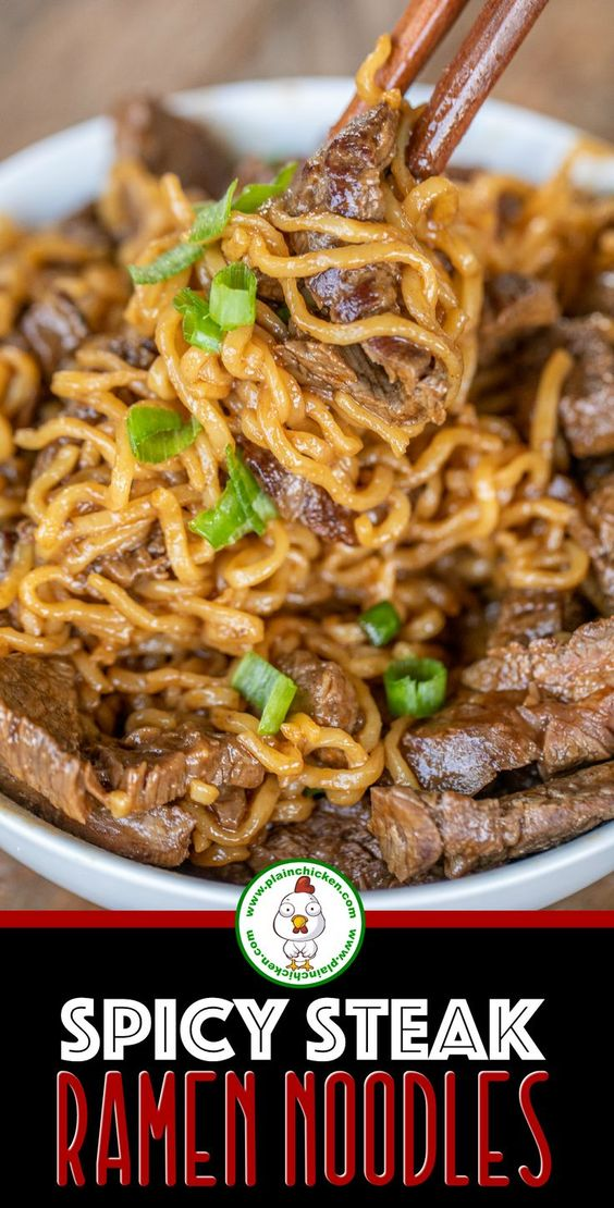 Spicy Steak Ramen Noodles