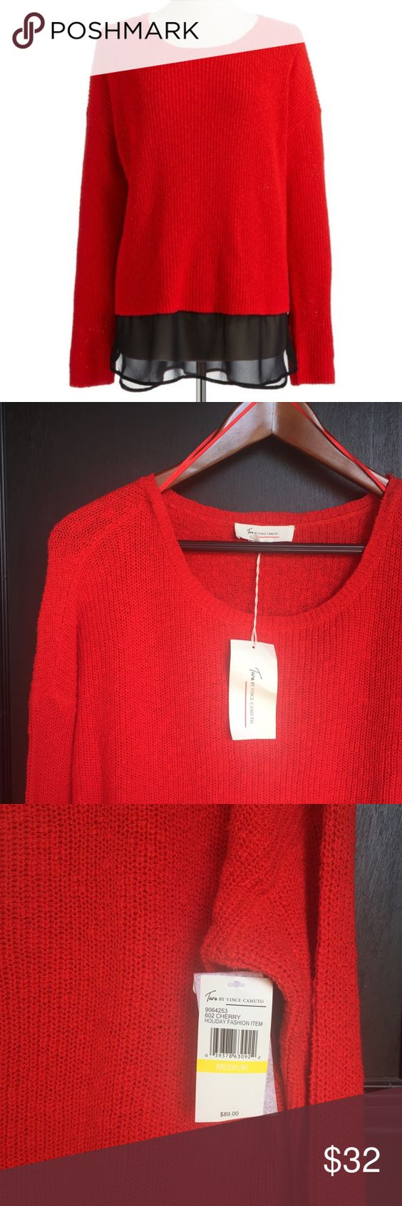 TWO by Vince Camuto | Cherry Red Sweater NWT