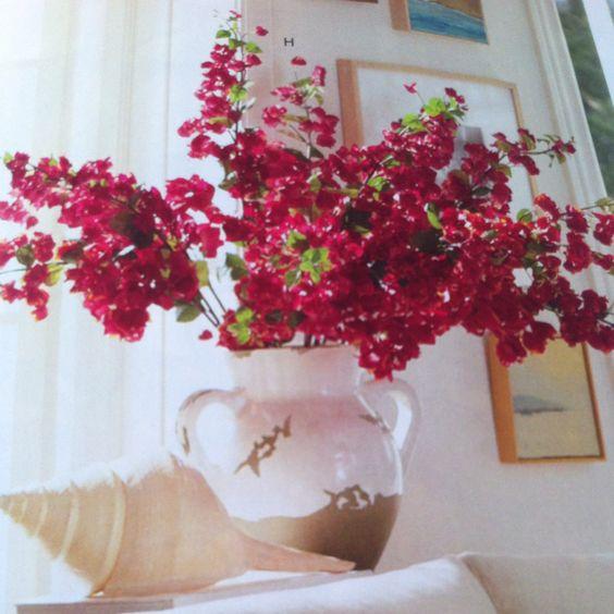 Nice flower arrangement and vase