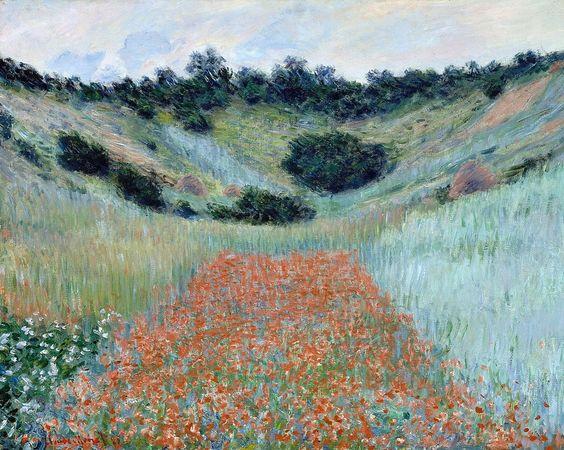 Champ de coquelicots, environs de Giverny (C Monet - W 1000),1885.