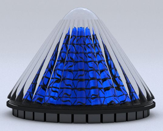 V3Solar's Spinning Cone-Shaped Solar Cells Generate 20 Times More Electricity Than Flat Photovoltaics | Inhabitat - Sustainable Design Innovation, Eco Architecture, Green Building