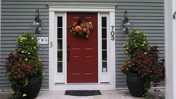 new front door color benjamin moore carriage red house color sherwin williams mountain road. Black Bedroom Furniture Sets. Home Design Ideas